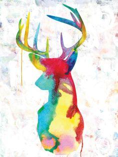 Urban Road Oh Deer - Canvas art print Deer Art, Moose Art, Bambi, Canvas Artwork, Canvas Art Prints, Hirsch Wallpaper, Urban Road, Oh Deer, Illustrations