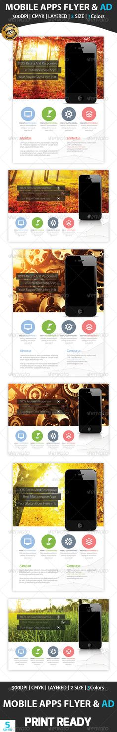 Apps Promotion Flyer & Ad Template  #GraphicRiver         Apps Promotion Flyers & Ad Template   Images links are included in the help file   Many thanks for purchasing my item from the envato marketplace.   Please don't forgot to rate.   //————————-—//   All designs in to design   //————————-—//   Apps Promotion Flyers & Ad Template Fully layered PSD 300 Dpi, CMYK Completely editable, print ready Text/Font or Color can be altered as needed All Image are in vector format, so can…