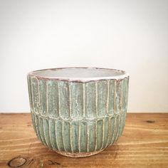 """This glaze.. Only half of a small bucket left, and no recipe . #keramik #pottery #ceramics #stoneware"" 