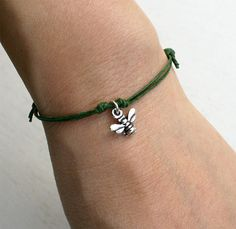Items similar to Honey Bee Bracelet, Honey Bee Anklet, (many color to choose) on Etsy