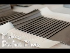 I Made a Thousand Pleats Using a Handmade Pleating Board - YouTube Sewing Hacks, Sewing Projects, Sewing Tips, Pleated Skirt Tutorial, Prop Making, Design Guidelines, Boards, Earth, Youtube