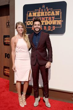 Thomas Rhett Photos - Lauren Gregory (L) and singer-songwriter Thomas Rhett attend the 2016 American Country Countdown Awards at The Forum on May 1, 2016 in Inglewood, California. - 2016 American Country Countdown Awards - Red Carpet