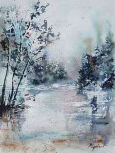 "Saatchi Online Artist: Pol Ledent; Watercolor 2013 Painting ""watercolor 251203 SOLD"""
