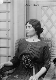 Helen Keller. Photo Credit: Bain News Service   http://www.jns.org/latest-articles/2013/6/17/when-helen-keller-confronted-the-nazis