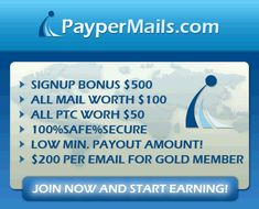 this sites pays you to view ads and read mails i don't know if its for real but its free to sign up. you view ads for 30 - 60 secounds and get paid use the link below to sign up if you want to try it out   http://paypermails.com/pages/index.php?refid=onestep