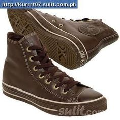 brown leather converse shoes
