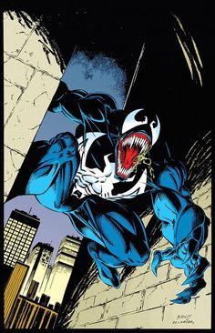 Venom by Mark Bagley Venom Comics, Marvel Venom, Marvel Villains, Marvel Characters, Marvel Comic Universe, Marvel Comic Books, Marvel Art, Venom Art, Mark Bagley