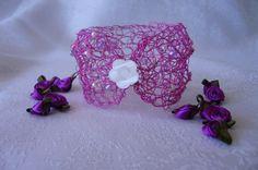 Crochet beaded bracelet/cuff by JuliesCrochetArray on Etsy, $15.00