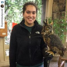 #Repost @jenniferkbowling with @repostapp.  Great Horned Owl. Showing @katrineryttergaard some of our local wildlife on her last day in Alabama before she returns to Denmark tomorrow.  #awc www.awrc.org