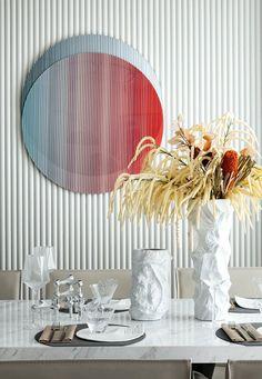 简约现代装饰画 Flower Arrangements, Furniture Design, Art Deco, Dining Room, Ceiling Lights, Sculpture, Table Decorations, Wall Art, Tableware