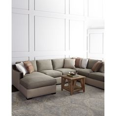 Clayton Three-Piece Sectional ($5,299) ❤ liked on Polyvore featuring home, furniture, sofas, 3pc sectional, three piece sectional, 3 piece sectional, clayton and handmade furniture
