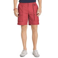 Men's IZOD Surfcaster Classic-Fit Performance Stretch Shorts, Size: 33, Red Other