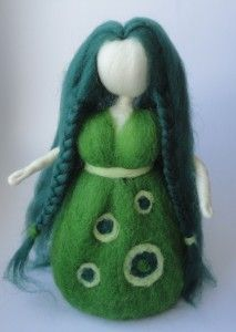 felted Goddess, Wildfrau, Wild Woman, by Elaria