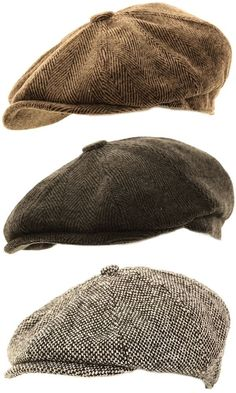 Hats for Women: Mens Herringbone Baker Boy Caps Newsboy Hat Countr...