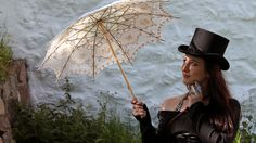Magdalena Hai at Turku Castle. Picture from an article about steampunk in Yle Olotila.