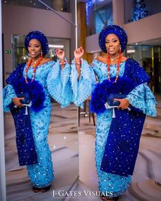 "Balogun adebisi sharkie on Instagram: ""Make way for Bunnie Bees Beautifullllll and stunning bride @bankizzle 💙💙💙💙 We went with blue tones for her first engagement outfit. Thanks…"" African Dresses For Kids, African Lace Dresses, Latest African Fashion Dresses, African Traditional Wedding Dress, Traditional Wedding Attire, African Wedding Attire, African Attire, Nigerian Dress Styles, African Lace Styles"