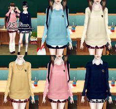 [JS SIMS 3] Japanese School Uniform Set | JS Sims 3