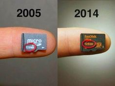 #ThrowbackThursday Things changed a lot during last 10 years. #SanDisk #MicroSD