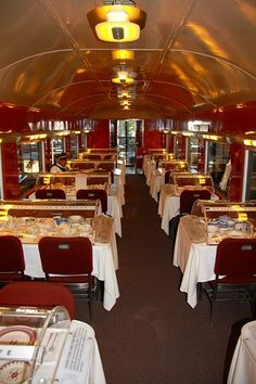 Dining Car at California State Railroad Museum - Sacramento, California (article) Great place to visit! Your child will sleep well that night and sleep in! Something about those trains. Old Town Sacramento, Sacramento State, Sacramento California, Moving To California, California Dreamin', Los Angeles California, Northern California, California State Railroad Museum, Train Museum