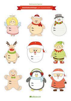 Damit jedes Weihnachtsgeschenk von seinem vorgesehenen Empfänger ausgepackt wird, sollte es mit Namen versehen werden. Für diesen Zweck finden Sie hier kostenlose Geschenkanhänger zum Herunterladen und Ausdrucken.