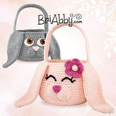 Easter Bunny Baskets / awww, so cute! / beginner / CROCHET pattern