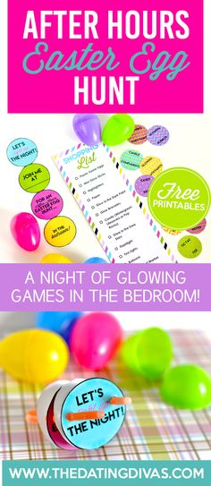 An intimate Easter Egg Hunt for AFTER the kids are in bed - you won't find chocolate in these eggs! www.TheDatingDivas.com