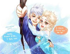 Jack Frost and Queen Elsa Jelsa