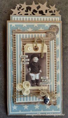 min lille scrappe-verden: Posekort til en liten gutt (DT-bidrag for Kort og Godt)