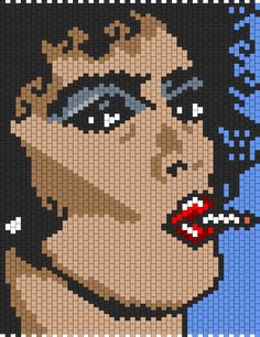Dr. Frank N Furter from Rocky Horror Picture Show bead pattern