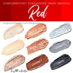 Wondering what Eyeshadow colors to wear with Red clothing?  Let SeneGence ShadowSense help.  Shadowsense is non-smudging, budging and will LAST all day long on your eyes.  Click here to shop and grab your own!  #shadowsense #senegence