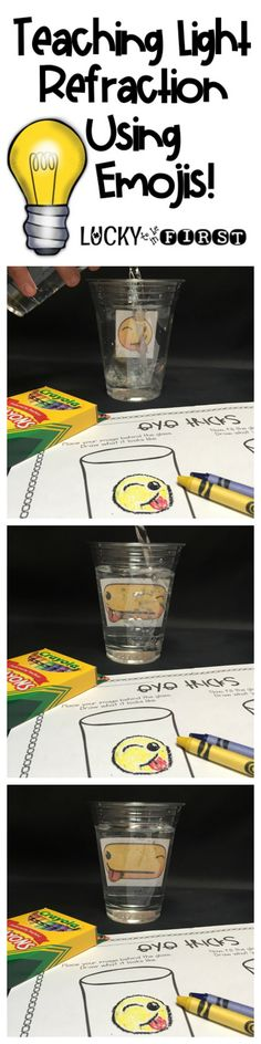 Teach your kiddos about light refraction with this simple experiment!