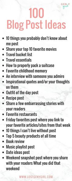 100 blog post ideas for lifestyle bloggers that'll help you get through that writer's block. Add these to your content calendar like....now! #blogging #bloggingideas #blogpostideas #contentcalendar #bloggingtips #writingprompts Youtube Tips, Start Youtube Channel, Blog Topics, Blog Writing, Writing Tips, Make Money Blogging, Earn Money, Blogger Tips, Entrepreneur