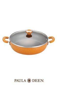 "Paula Deen 12"" Covered Chicken Fryer - Orange  #SouthernSummer"