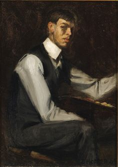 Edward Hopper  (1882-1967)   Self Portrait