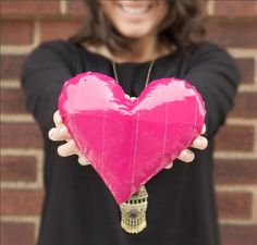 Learn how to make your own duct tape Valentine's heart with these easy-to-follow instructions from Duck® brand http://www.duckbrand.com/craft-decor/activities/3d-heart?utm_campaign=dt-crafts&utm_medium=social&utm_source=pinterest.com&utm_content=duct-tape-crafts-valentines-day