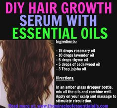 Find out how to make your own hair growth blend with this potent and effectve essential oil hair growth recipe!