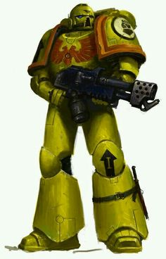 Tactical marine of the imperial fists