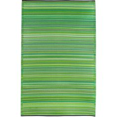 Add a splash of color to any indoor or outdoor living space with this reversible indoor or outdoor rug. Made from recycled plastics, this vibrant rug is strong, durable, soft, and environmentally friendly. It is also impervious to water and mildew.