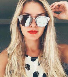 Details about Rimless Metal Frame Mirrored Composite Aviator Round Men Women Uni Sunglasses - Dior Eyeglasses - Trending Dior Eyeglasses. Womens Fashion Online, Latest Fashion For Women, Fashion Men, Classic Fashion, Sunnies, Mirrored Sunglasses, Sunglasses Women, Summer Sunglasses, Stylish Sunglasses