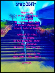 Great stair workout use a KBell OR Barbell -  https://www.facebook.com/Step2BFit