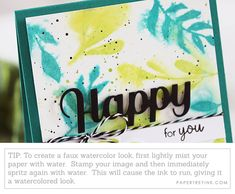 Faux Watercolor Tip Watercolor Tips, Watercolor Cards, Simply Stamps, Card Making Tips, Diy On A Budget, Cardmaking, Butterfly, Ink, Play