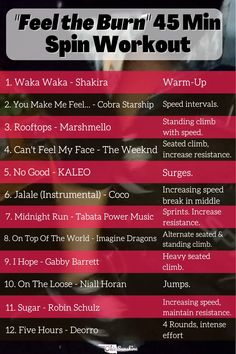 Spin Class Routine, Gym Routine, Hiit, Spin Bike Workouts, Cardio Workouts, Fitness Motivation, Spinning Workout, Workout Music, Gym Music
