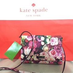 NWT Kate Spade Sally Grant Street Floral Crossbody Brand new with tags. kate spade Bags Crossbody Bags
