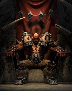 Dnd Characters, Fantasy Characters, Garrosh Hellscream, Warcraft Orc, World Of Warcraft Wallpaper, Fantasy Dwarf, Wow World, Medieval, Fantasy Monster