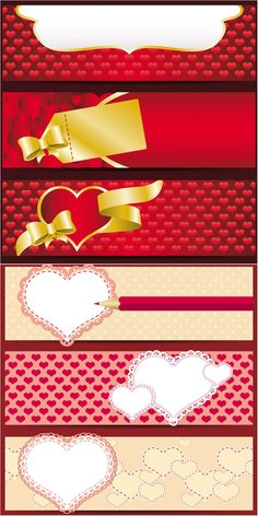 Valentine's day banners vector set 2