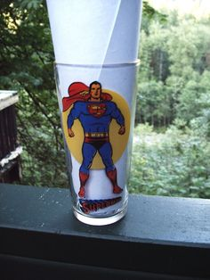 Vintage DC Comics Superman Pepsi Super Series Collector's Glass. from 1976