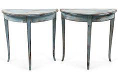 Demilune Tables, Pair on OneKingsLane.com