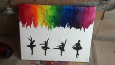 Ballet dancers melting crayon art work