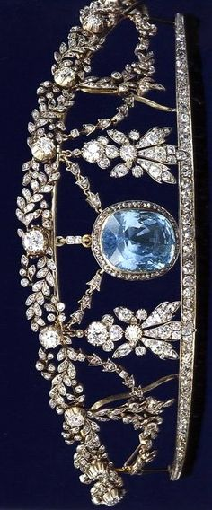 The Aquamarine tiara, 19th Century.