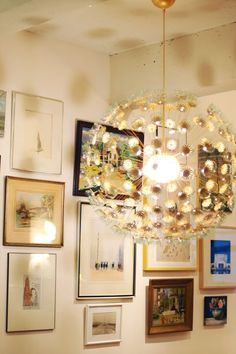 DIY~ Take a Ikea light fixture and turn it into an amazing SPUTNIK CHANDELIER look-a-like!  This DIY So Creative, Love It!